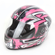 Silver/Pink Passion FX90 Pass Helmet