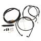 Midnight Stainless Handlebar Cable and Brake Line Kit for Use w/18 in. to 20 in. Ape Hangers - LA-8100KT-19M
