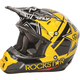 Black/Yellow Kinetic Pro Rockstar Helmet