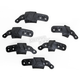Black Size Adapter Kit for BNS Tech Carbon and BNS Pro Neck Support - 6951314-10-LXL
