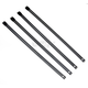 Black 8in. Ladder Style Stainless Steel Tie Wraps - CPP/9078