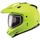 Hi-Viz Yellow GM11S Snow Sport Snowmobile Helmet