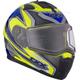 Hi-Viz/Blue Tranz 1.5 RSV Yan Modular Snow Helmet