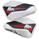 Red/White/Black Flex Tec Handguards - FT-HG-BWR