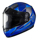 Youth Blue/Gray/White CL-YSN MC-2 Striker Helmet with Framed Dual Lens Shield