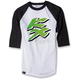 White/Black Kawasaki KX Baseball T-Shirt