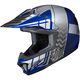 Youth Blue/Gray/Silver CL-XY 2 Cross-Up MC-2 Helmet