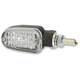 Black LED Turnsignals w/Clear Lens and Two-Wires - 26-7704BK