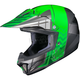 Youth Green/Gray/Silver CL-XY 2 Cross-Up MC-4 Helmet