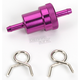 1/4 in. Purple Anodized Aluminum Fuel Filter - 14-34473