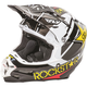 Black/White/Yellow F2 Carbon Rockstar Helmet