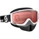White Split OTG Snowcross Goggles w/Rose Lens - 233687-0002108