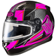 Black/Neon Pink/Gray CL-17SN MC-8 Striker Helmet w/Frameless Electric Shield