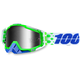 Alchemy Green Racecraft Goggle w/Silver Lens - 50110-151-02