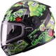 Youth Black/Green GM49Y Attack Snowmobile Helmet