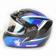 Blue/Black/Silver CS-R2SN MC-2 Seca Helmet with Framed Electric Shield