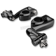 Black Adjustable Highway Peg Mounts w/4 in. Extension, Clevis and Peg Mounts - 60025