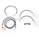 Black Vinyl Handlebar Cable and Brake Line Kit for Use w/12 in. - 14 in. Ape Hangers (w/o ABS) - LA-8012KT-13B
