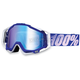 Blue/White Racecraft Goggles w/Mirror Lens - 50110-022-02