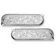 Chrome Engraved Dresser Saddlebag Latch Covers - 03-559