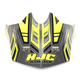 Hi-Vis Yellow/Charcoal MC-3H CL-X6 Fulcrum Helmet Visor - 0962-6017-13