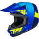 Blue/Hi-Viz Yellow CL-X7 Cross-Up MC-2F Helmet