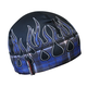 Blue Flannel Flame Gas Cap Beanie
