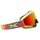 Yellow/Cyan/Fluorescent Red X-Fade Volcano Goggles - 067-10210
