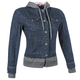 Womens Blue Fast Times Denim Hoody Jacket