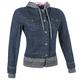 Womens Blue Fast Times Denim Hoody Jacket