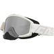 Matte White Force Snow Goggles w/Mirrored Dual Lens - 64-1503