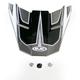 Black/Silver/White MC-5 FG-X Hammer Helmet Visor - 0967-6010-05