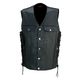Black 30-30 Leather Vest