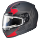 Matte Black/Red CL-17SN MC-1F Misson Helmet w/Frameless Electric Shield