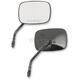 Black Short Stem OEM-Style Rectangular Mirrors - 0640-0981