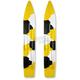 Yellow/Black/White Camo Powder Hound Skis - 04-0UC4-4