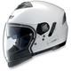 Metallic White N43ET Trilogy N-Com Helmet