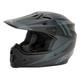 Matte Black MX-9 Barricade Helmet