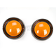 Deep Dish Bezels for Deuce Style Turn Signals w/Amber Lens - 5481