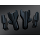 Gloss Black Lower Fork Covers - 7124