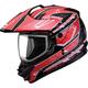 Red/Silver/Black GM11D Nova Dual Sport Helmet