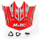 Red/Silver MC-1 CL-X6 Fulcrum Helmet Visor - 0962-6017-01