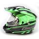 Black/Hi-Viz Green GM11S Trekka Snow Sport Snowmobile Helmet