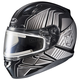 Black/Gray/Silver CL-17SN MC-5 Redline Helmet w/Frameless Electric Shield
