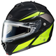 Black/Hi-Viz Neon Green/Silver IS-MAX 2 MC-3H Elemental Snowmobile Helmet w/Electric Shield