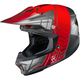 Red/Gray/Silver CL-X7 Cross-Up MC-1 Helmet