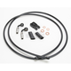 Black Pearl Designer Series BYO Braided Single Disc 7 Ft Brake Line Kit with 7/16 Inch 90 Degree Banjo - 496790A