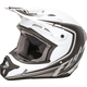 Youth Matte White/Black Kinetic Fullspeed Helmet