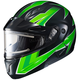 Green/Black CL-Max 2 Ridge Helmet w/Electric Shield