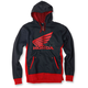 Black/Red Honda Limit Zip Up Hoody
